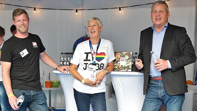 Jobzone och Arbetsförmedlingen på Pride