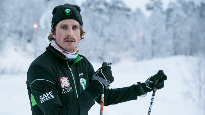 Skidsprintern Emil Johansson är Jobzones nya affischnamn