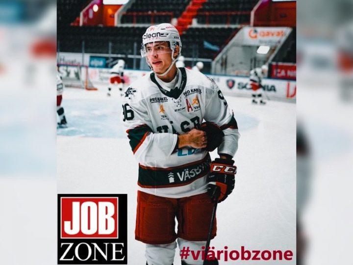Möt den slovakiska ishockeyspelaren som kombinerar sin karriär i allsvenskan med deltidsjobb hos Jobzone